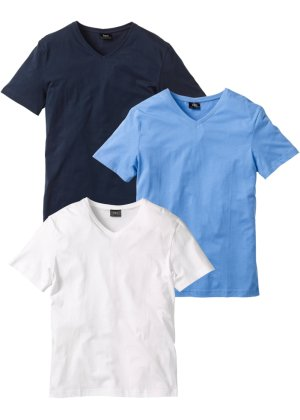 Bonprix Herren V-T-Shirt (3er-Pack) Regular Fit | 08941100886724