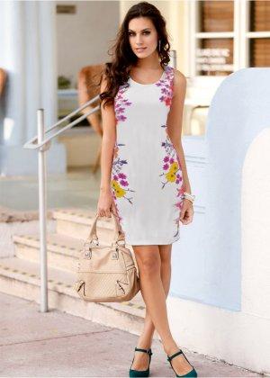 Vestido tubinho com estampa floral