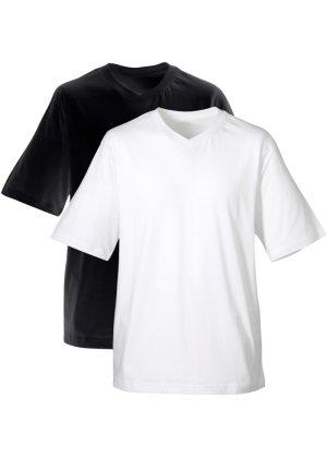 Bonprix Herren Herren T-Shirt mit V-Ausschnitt (2er-Pack) | 08903340223097