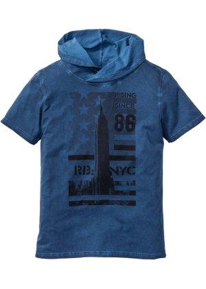 Bonprix Herren T-Shirt mit Schalkragen Slim Fit | 08901594279129