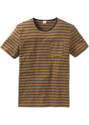 Bonprix Herren T-Shirt mit Streifen Regular Fit | 08901594244448