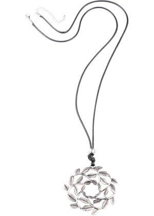 Bonprix Damen lange Kette mit runden Blätteranhänger | 04260436103164
