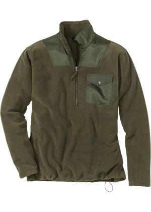 Bonprix Herren Fleece-Sweatshirt mit Reißverschluss Regular Fit | 05712963731925