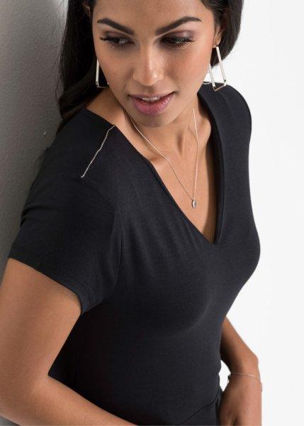 Bonprix Femme Modal Robe Et Manches En Courtes Jersey wwPqr