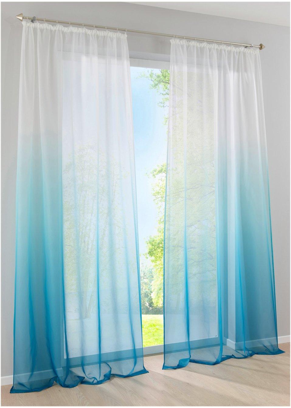 topaktuelles design f r lichtdurchflutete wohnr ume die gardine ariana aqua kr uselband. Black Bedroom Furniture Sets. Home Design Ideas