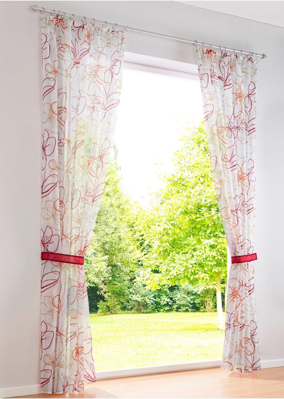 gardine romy 1er pack orange rot bpc living online kaufen. Black Bedroom Furniture Sets. Home Design Ideas