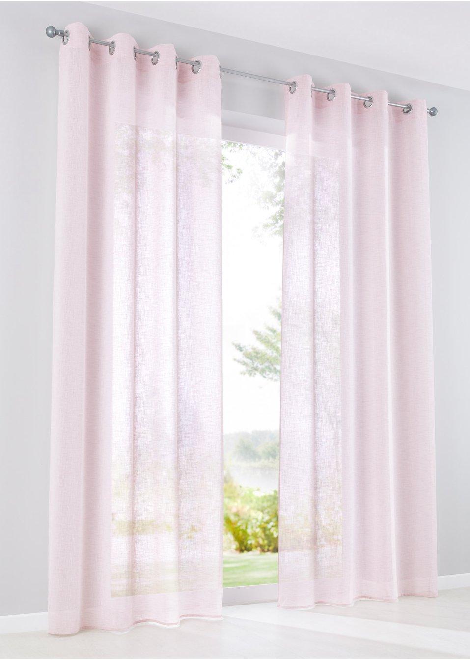 gardine zhara 1er pack puderrosa bpc living. Black Bedroom Furniture Sets. Home Design Ideas