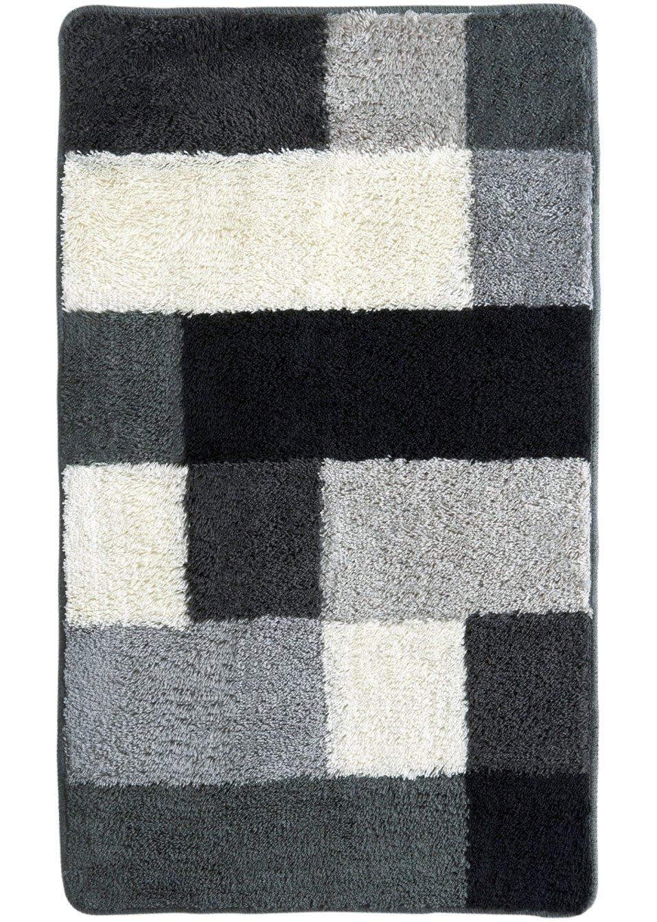 farbenfroher badespa mit der badgarnitur fun schwarz wei grau. Black Bedroom Furniture Sets. Home Design Ideas