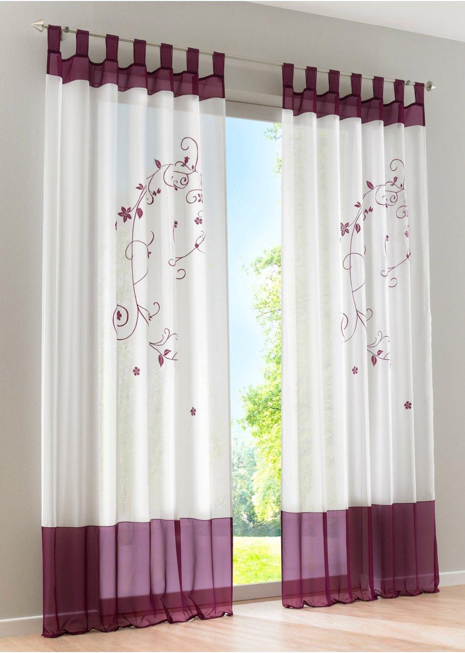 verspieltes design in toller farbe transparente gardine. Black Bedroom Furniture Sets. Home Design Ideas