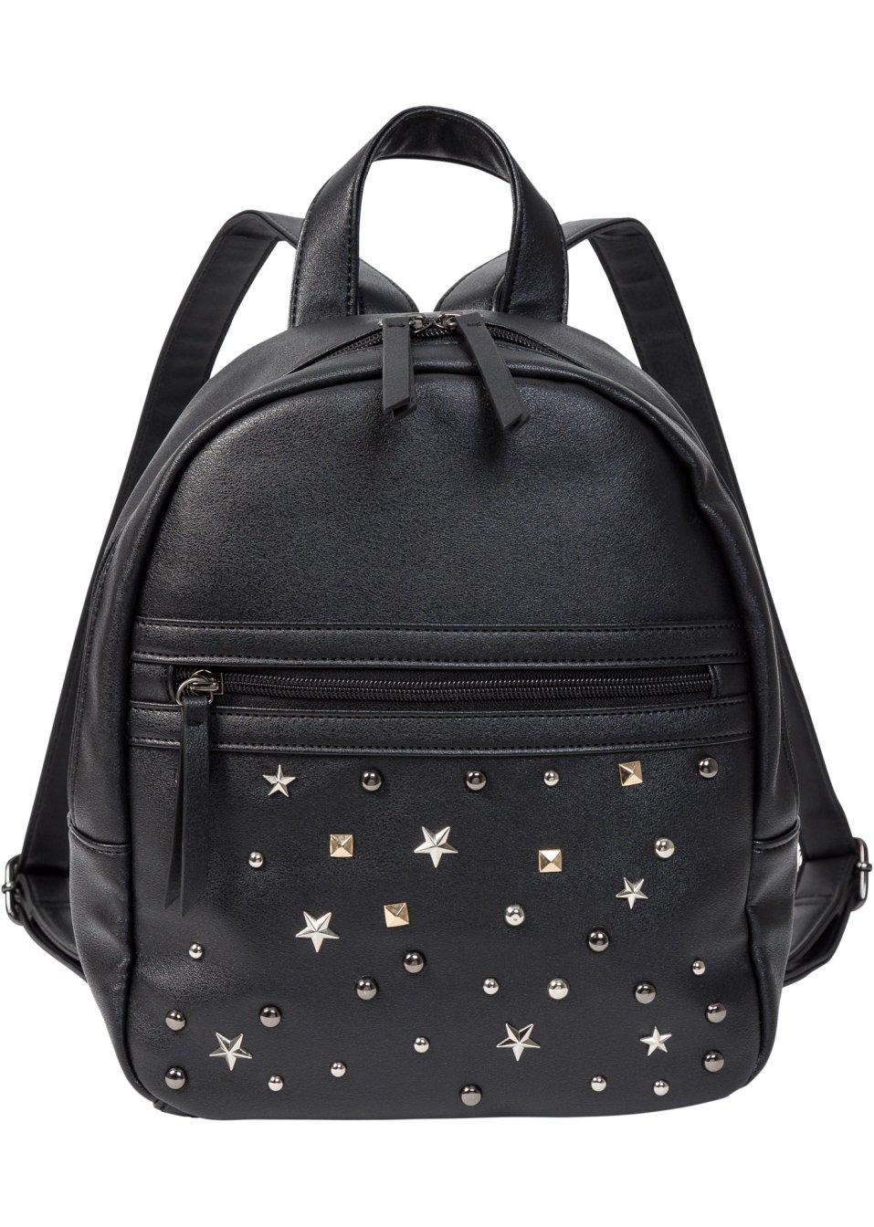 mini rucksack mit nieten schwarz silberfarben bpc bonprix collection online kaufen. Black Bedroom Furniture Sets. Home Design Ideas