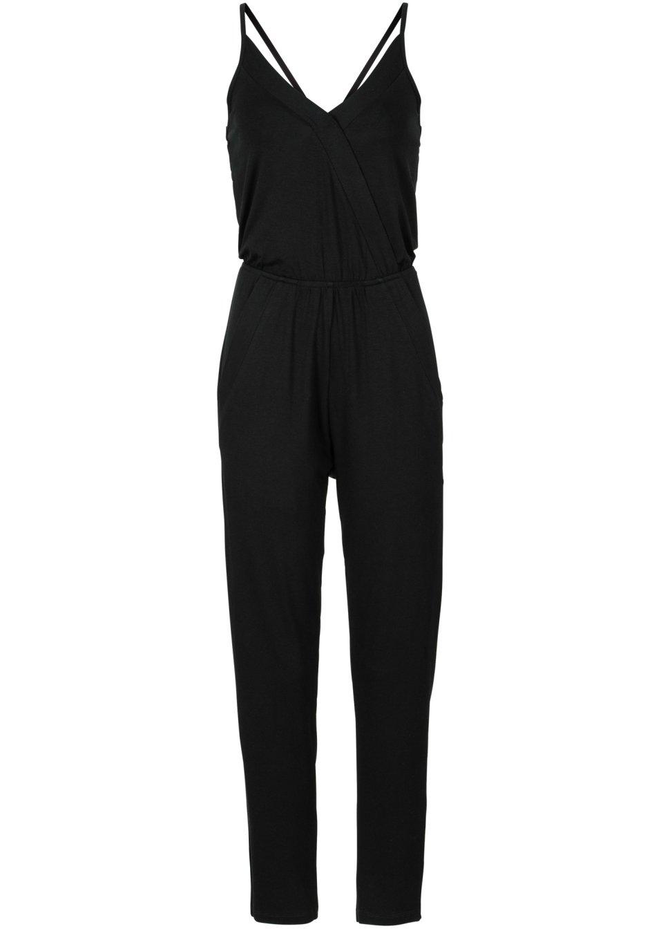 rmelloser jumpsuit mit gummibund schwarz. Black Bedroom Furniture Sets. Home Design Ideas