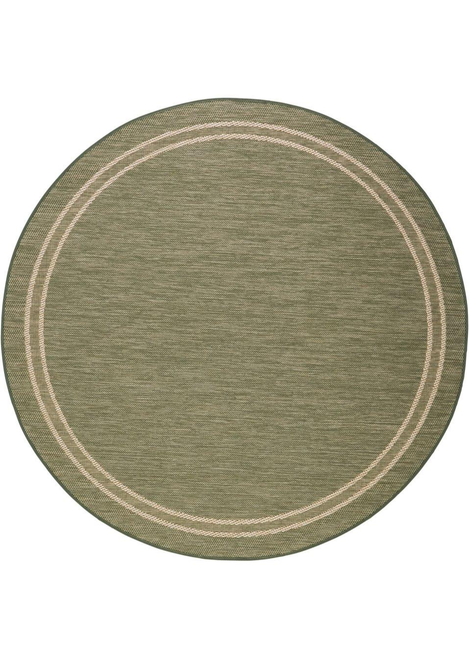 runder teppich elba f r den innen und au enbereich gr n. Black Bedroom Furniture Sets. Home Design Ideas