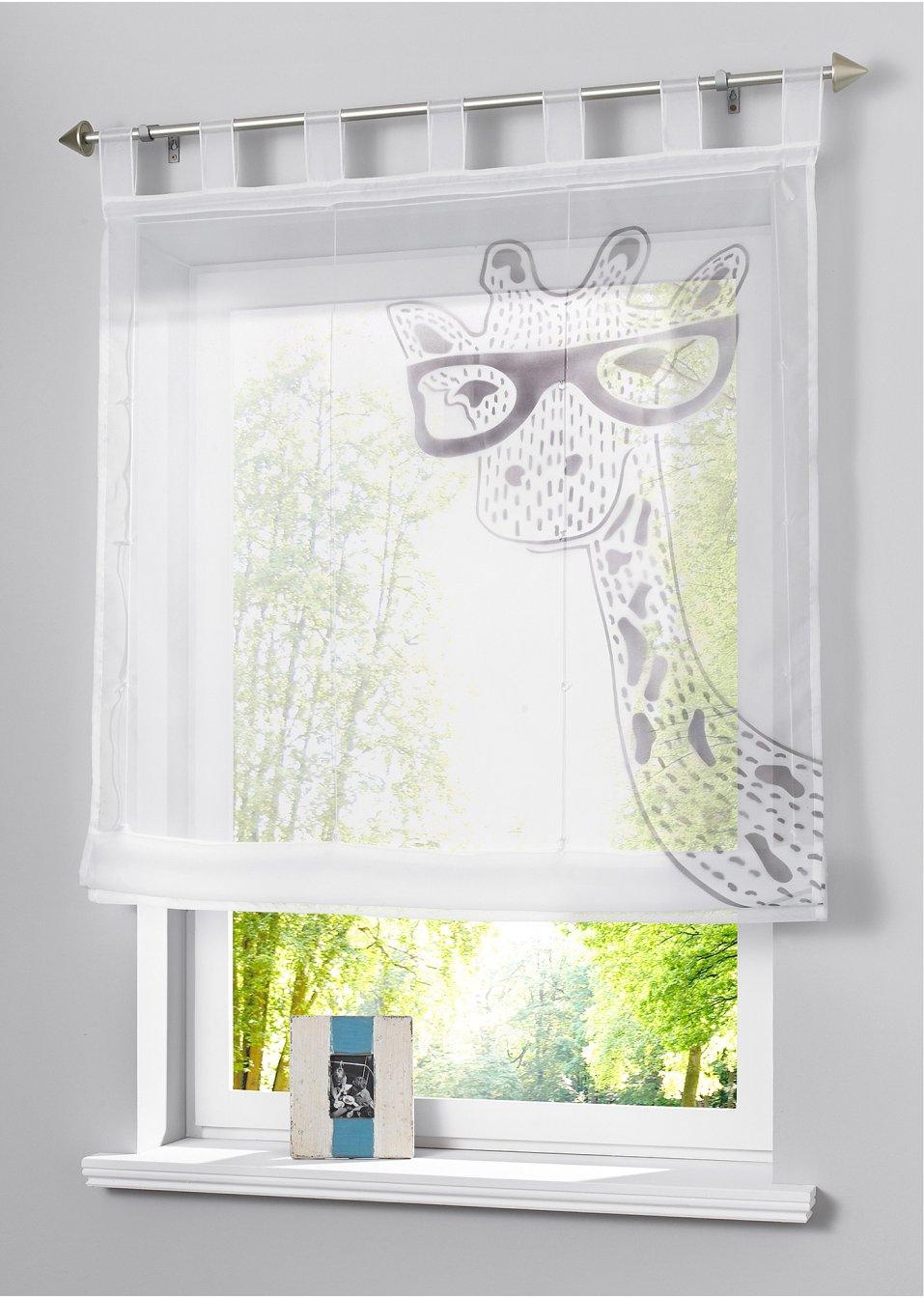 raffrollo giraffe schlaufen grau bpc living. Black Bedroom Furniture Sets. Home Design Ideas