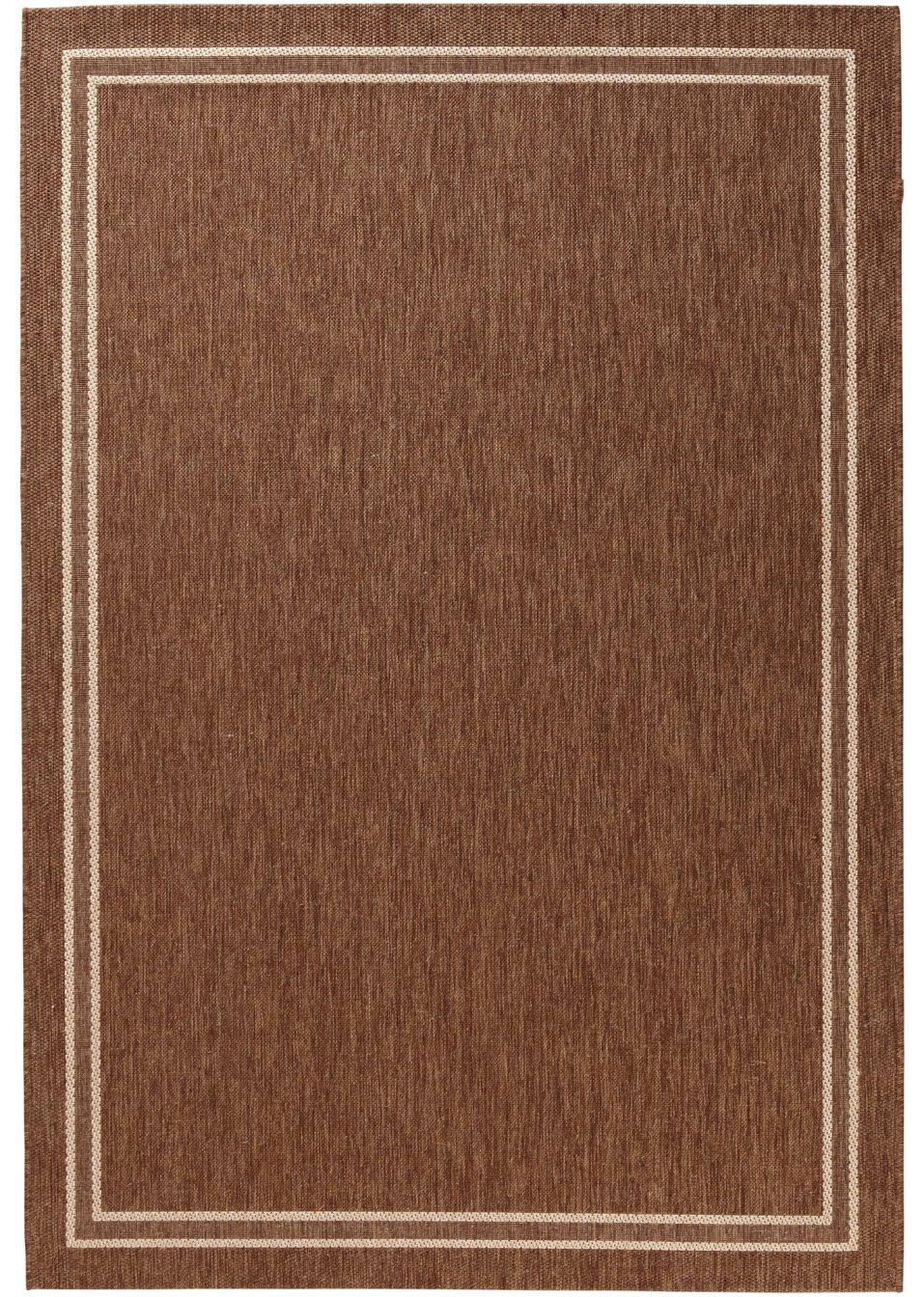 strapazierf higer in und outdoor teppich elba in wohnlichen farben braun. Black Bedroom Furniture Sets. Home Design Ideas