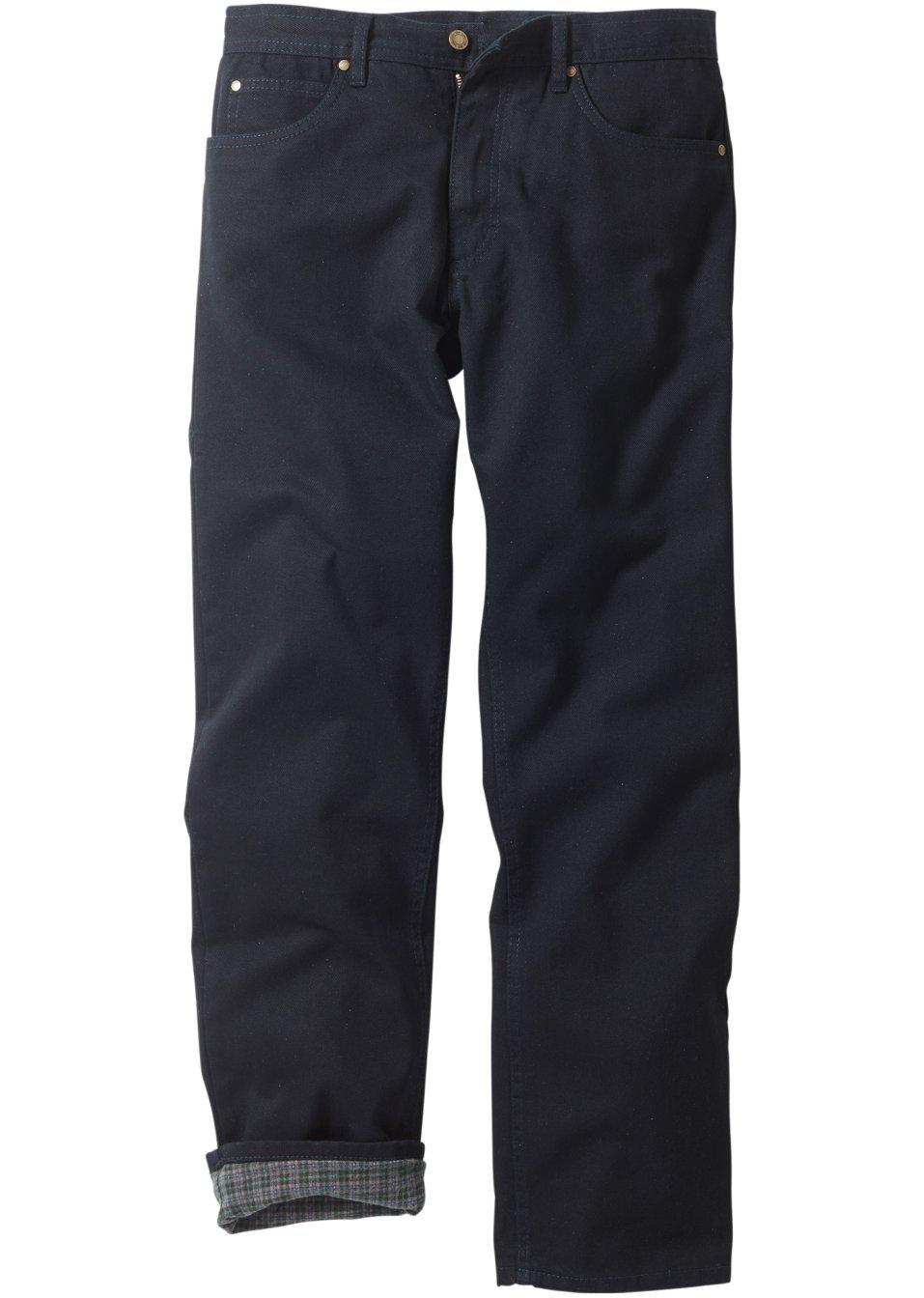 thermo jeans f r herren mit weichem flanellfutter schwarz n gr e. Black Bedroom Furniture Sets. Home Design Ideas