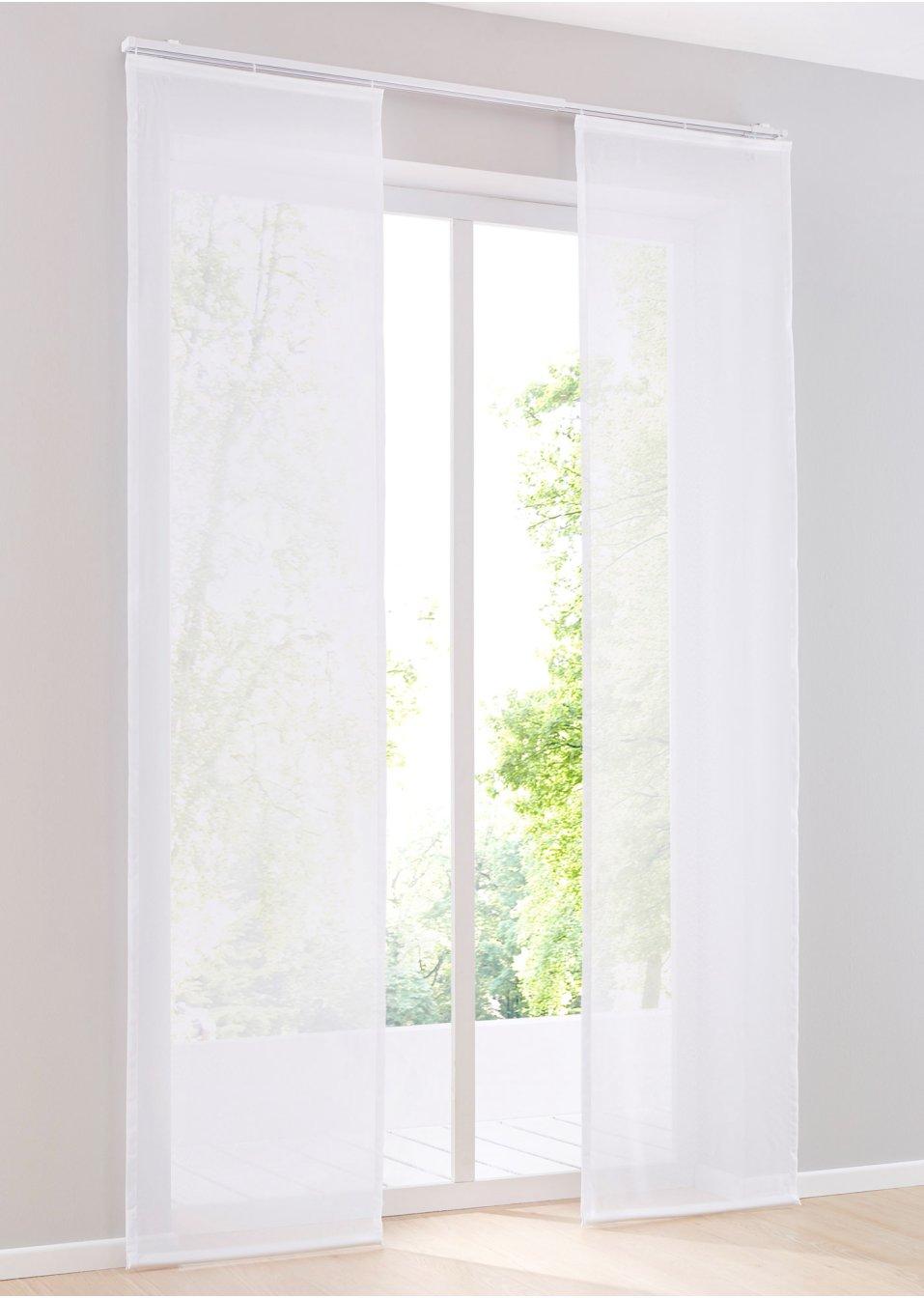 schiebegardine mainz 1er pack wei wohnen. Black Bedroom Furniture Sets. Home Design Ideas