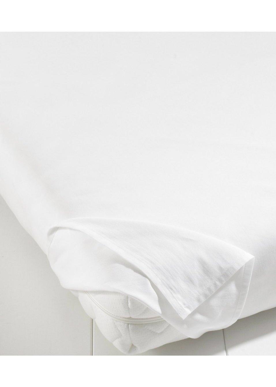 bettlaken linon wei wohnen bpc living. Black Bedroom Furniture Sets. Home Design Ideas