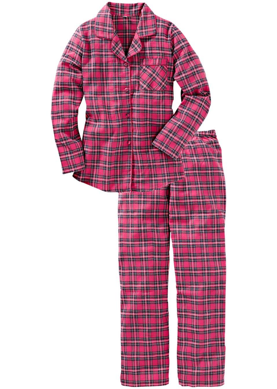 weicher pyjama mit tollem karomuster pink kariert. Black Bedroom Furniture Sets. Home Design Ideas