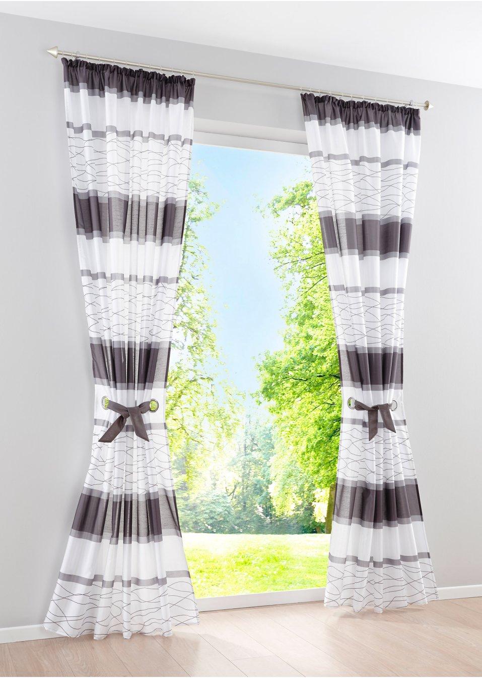 vorhang maira 1er pack grau bpc living online kaufen. Black Bedroom Furniture Sets. Home Design Ideas