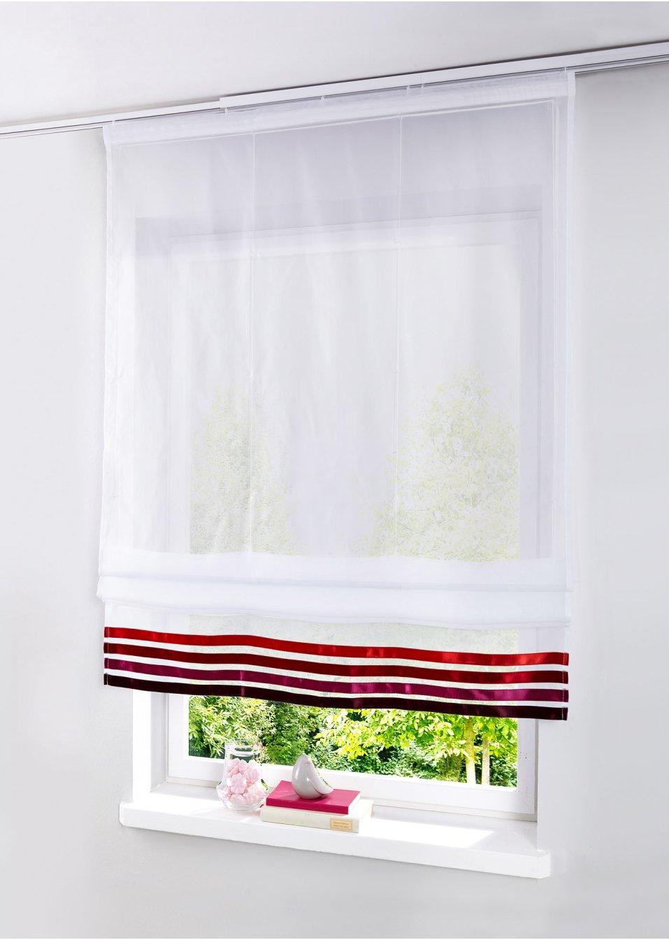 raffrollo niko klettschiene rot online bestellen. Black Bedroom Furniture Sets. Home Design Ideas