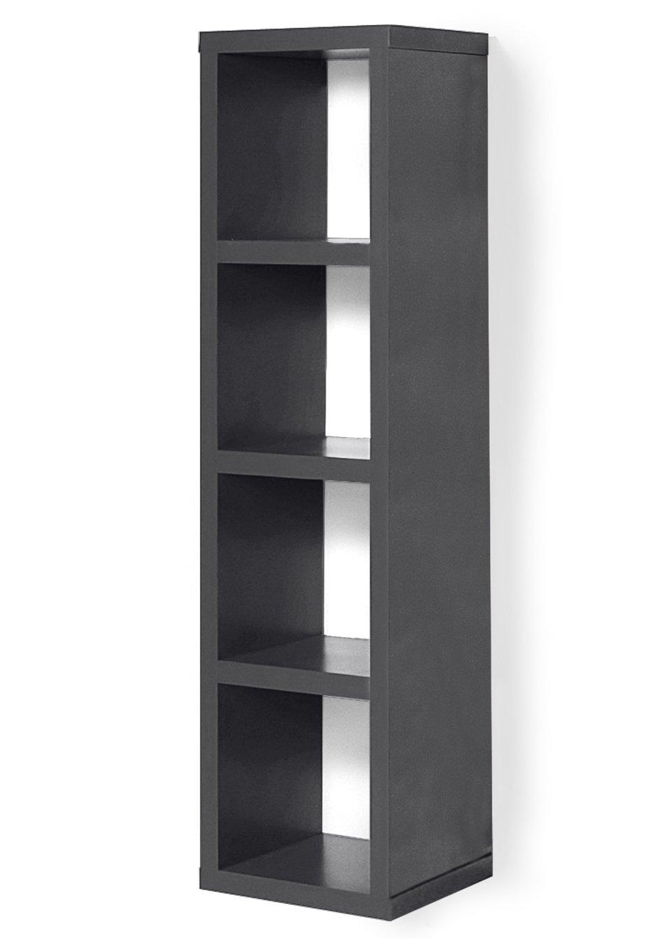 allesk nner in w rfelform regal kenia 4 f cher anthrazit mit 4 f chern. Black Bedroom Furniture Sets. Home Design Ideas