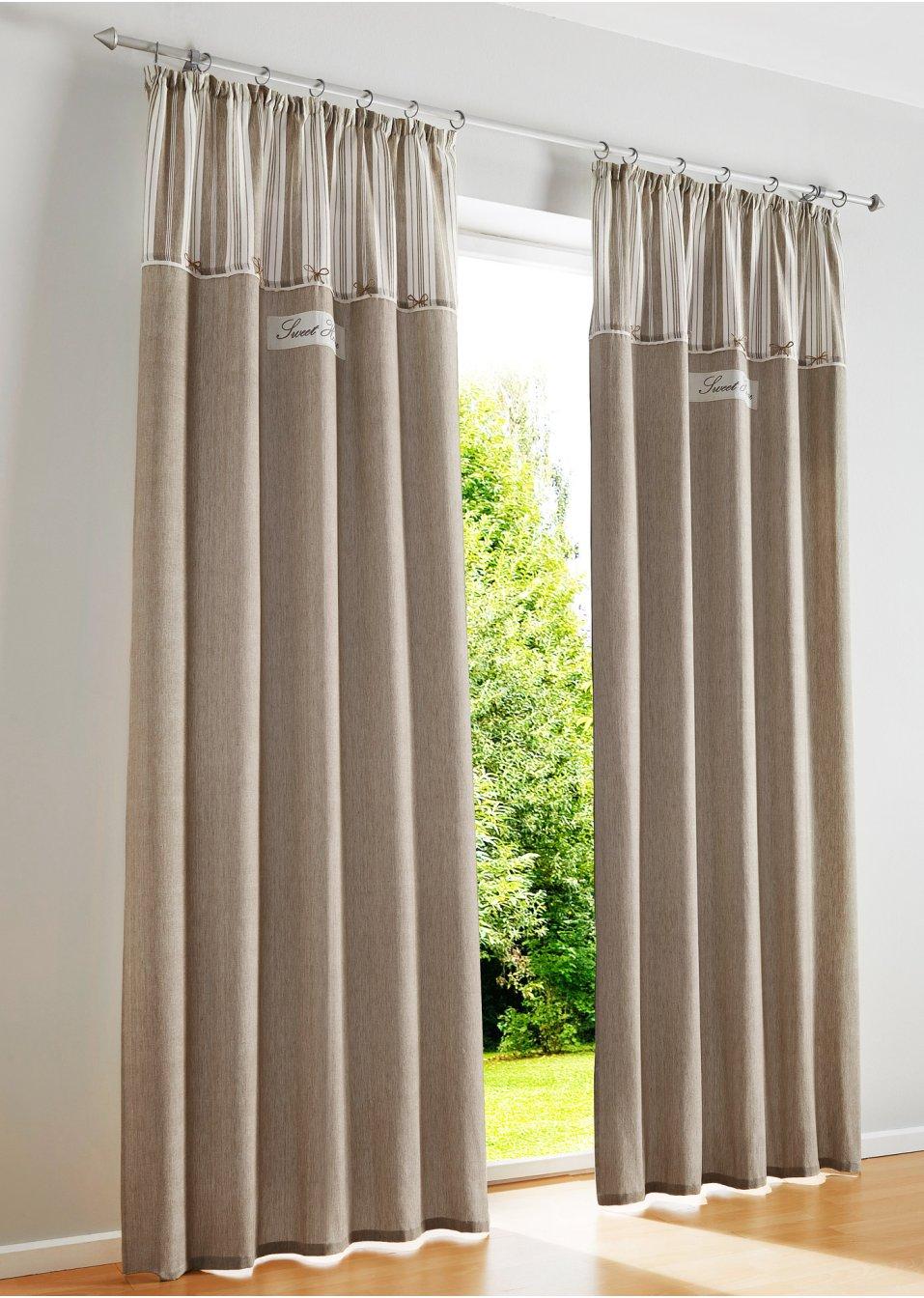 Sch ner blickfang vorhang zoey aus baumwolle natur - Bonprix vorhang ...