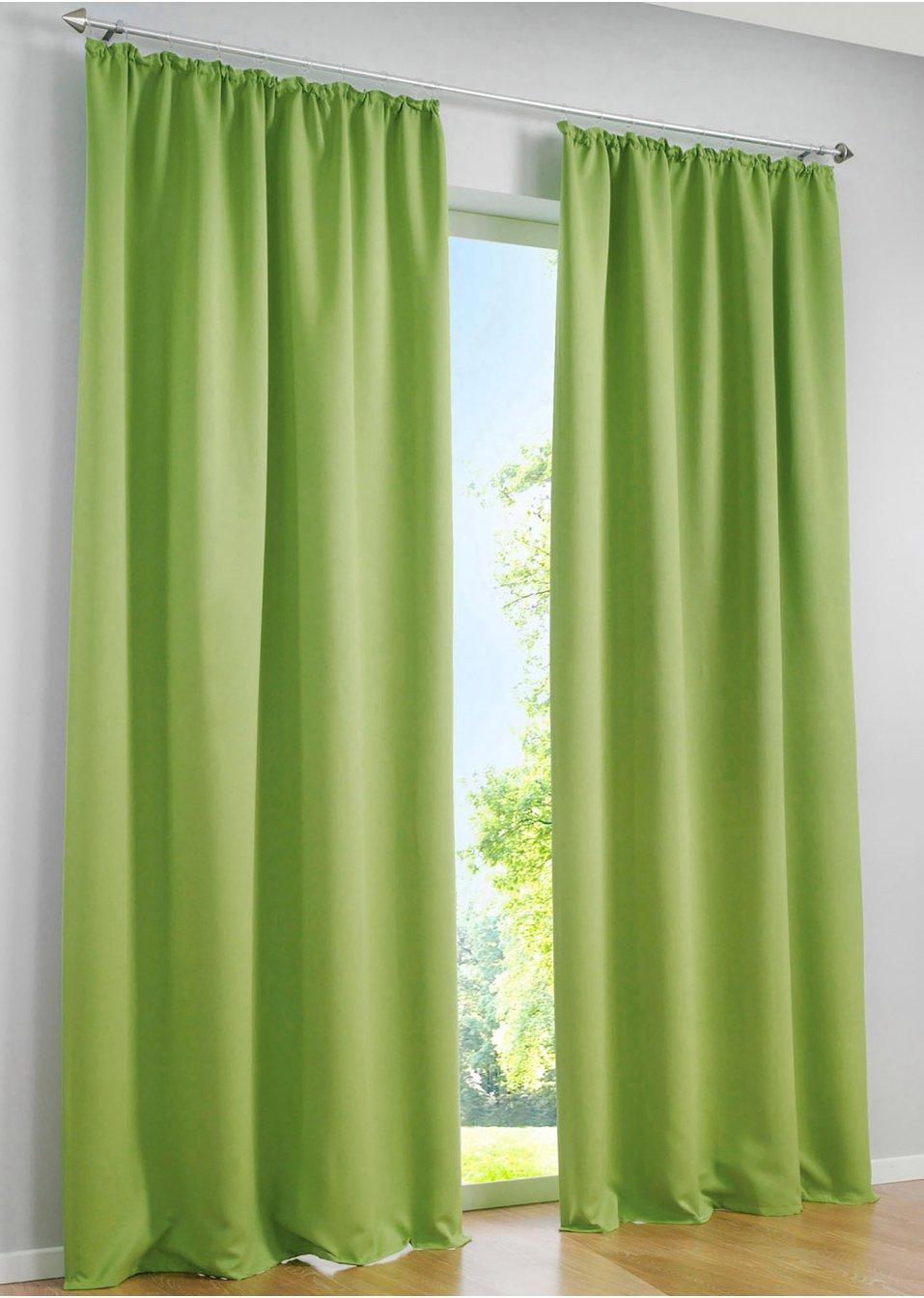 licht und sichtschutz am tag und in der nacht mit dem vorhang verdunkelung gr n. Black Bedroom Furniture Sets. Home Design Ideas