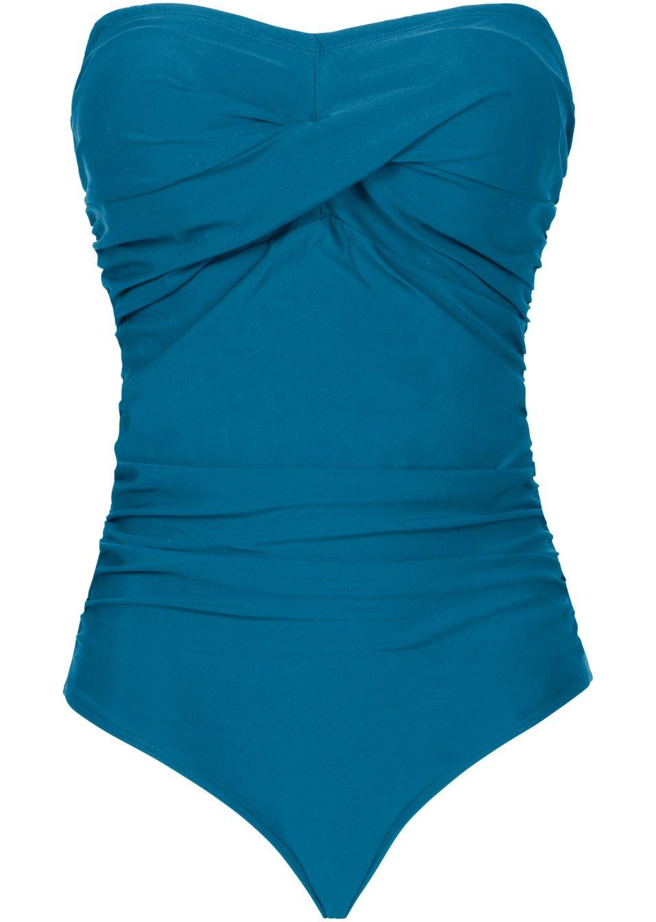 Shapebadeanzug in modischer Bandeau-Optik - blau 2d28cc14df