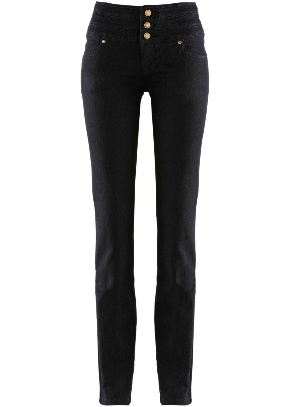 wohlf hlen in denim stretch jeans mit extrabreitem bund. Black Bedroom Furniture Sets. Home Design Ideas