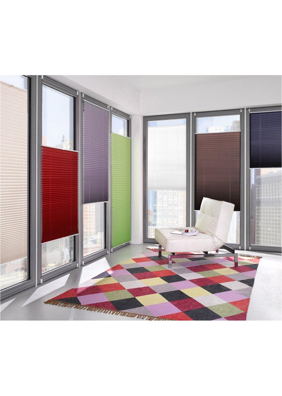 plissee up down klemmfix rot bpc living online. Black Bedroom Furniture Sets. Home Design Ideas