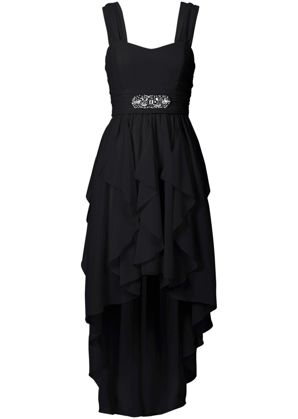 geschmackvolles kleid mit schmucksteinen schwarz. Black Bedroom Furniture Sets. Home Design Ideas