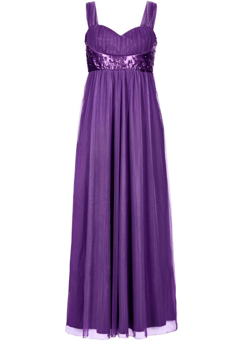 Kleid langarm lila