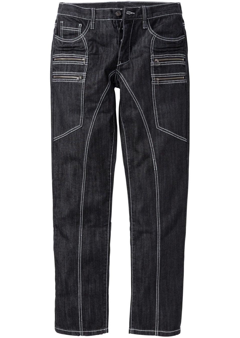 stylishe jeans mit auffallenden kontrastn hten und. Black Bedroom Furniture Sets. Home Design Ideas