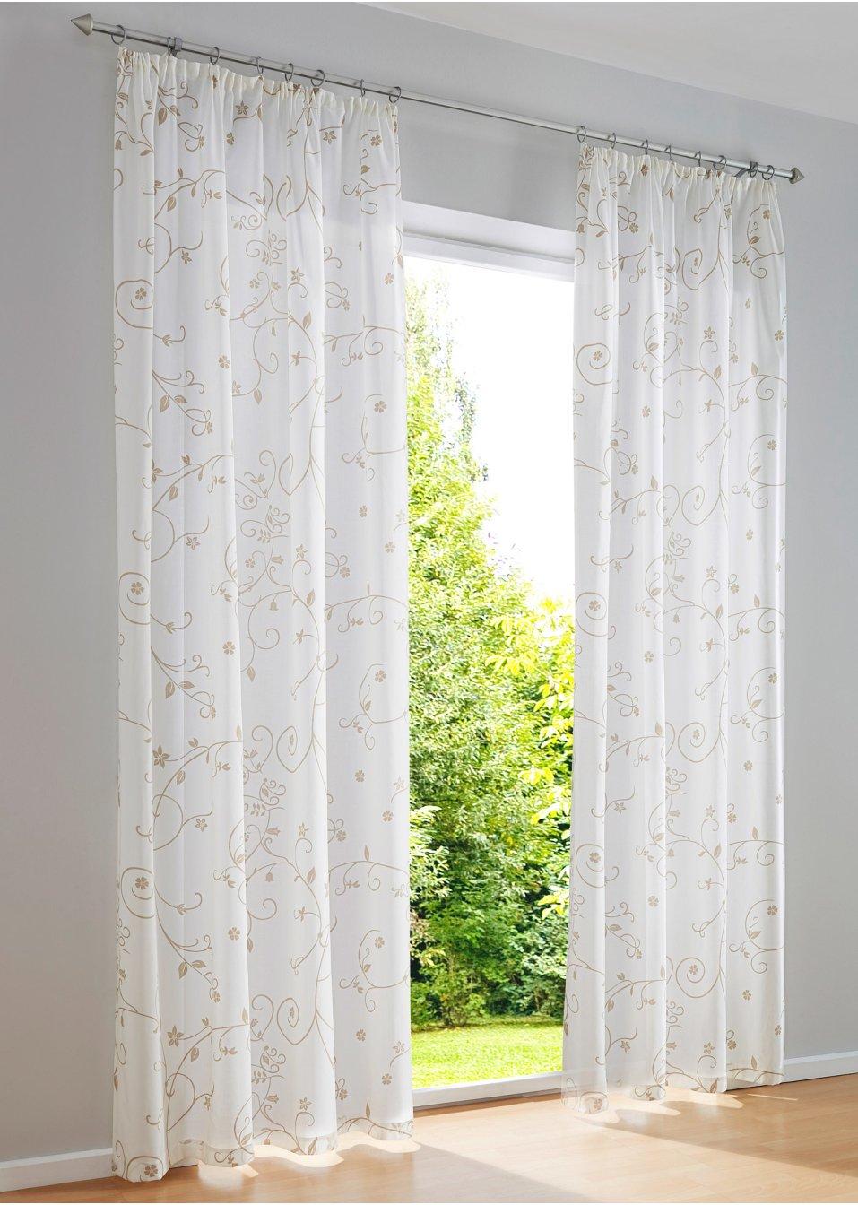 Vorhang jelda 1er pack kr uselband natur online for Bonprix vorhang