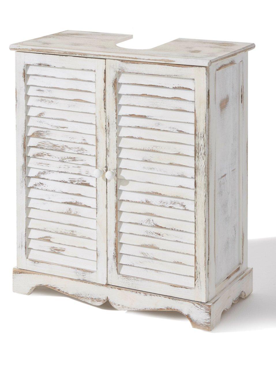 waschbeckenunterschrank f r fans des vintage looks wei shabby. Black Bedroom Furniture Sets. Home Design Ideas