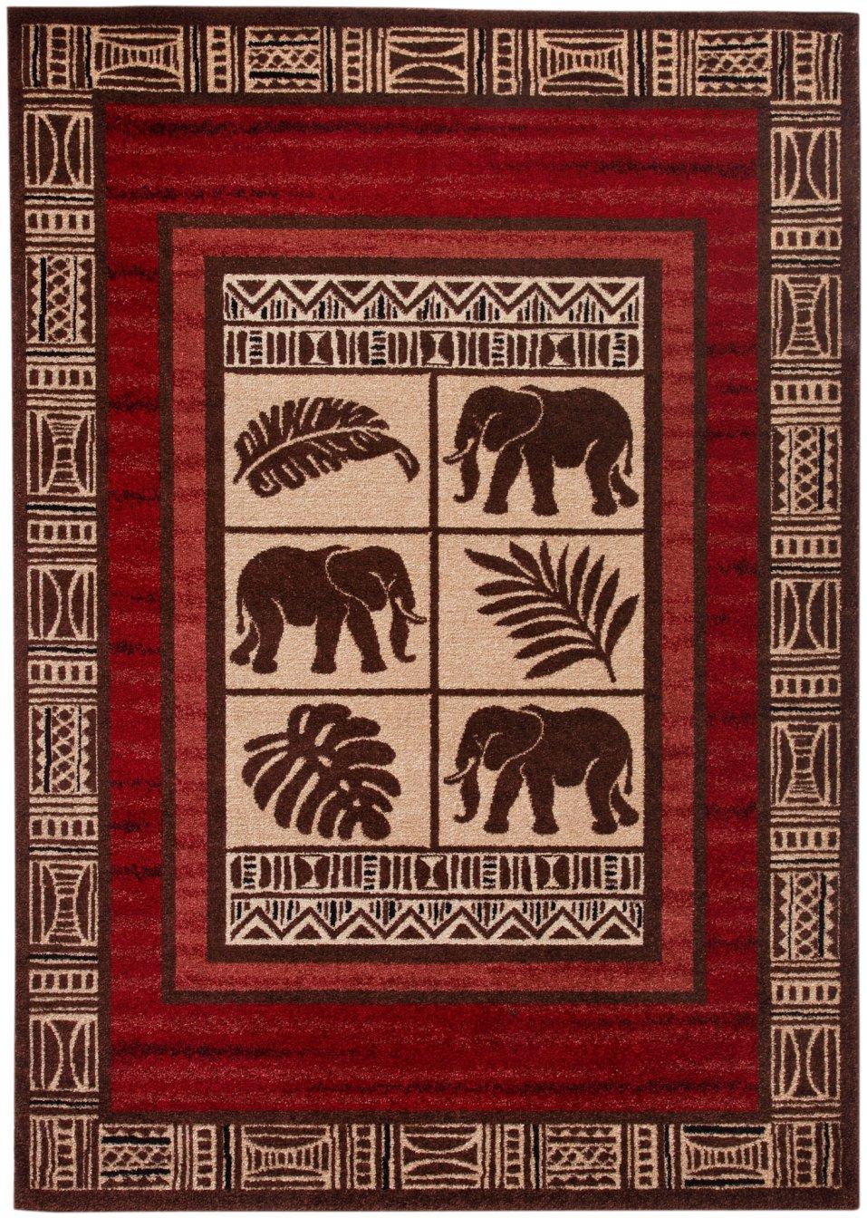 der teppich elefant mit orientalischer anmutung braun. Black Bedroom Furniture Sets. Home Design Ideas