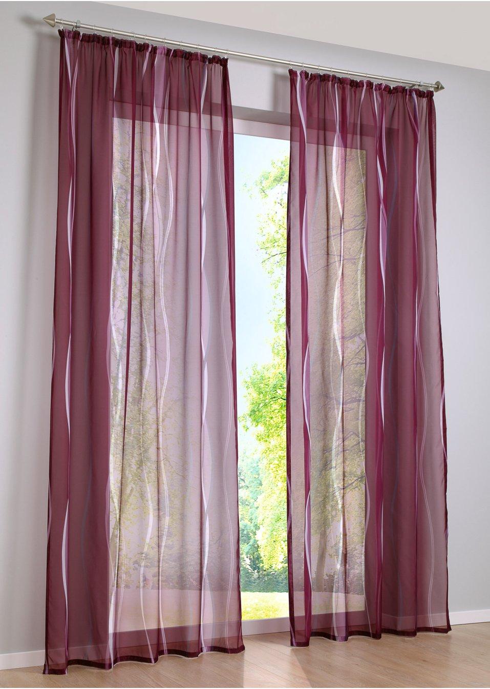 lila gardinen & vorhänge im bonprix online-shop, Wohnzimmer dekoo