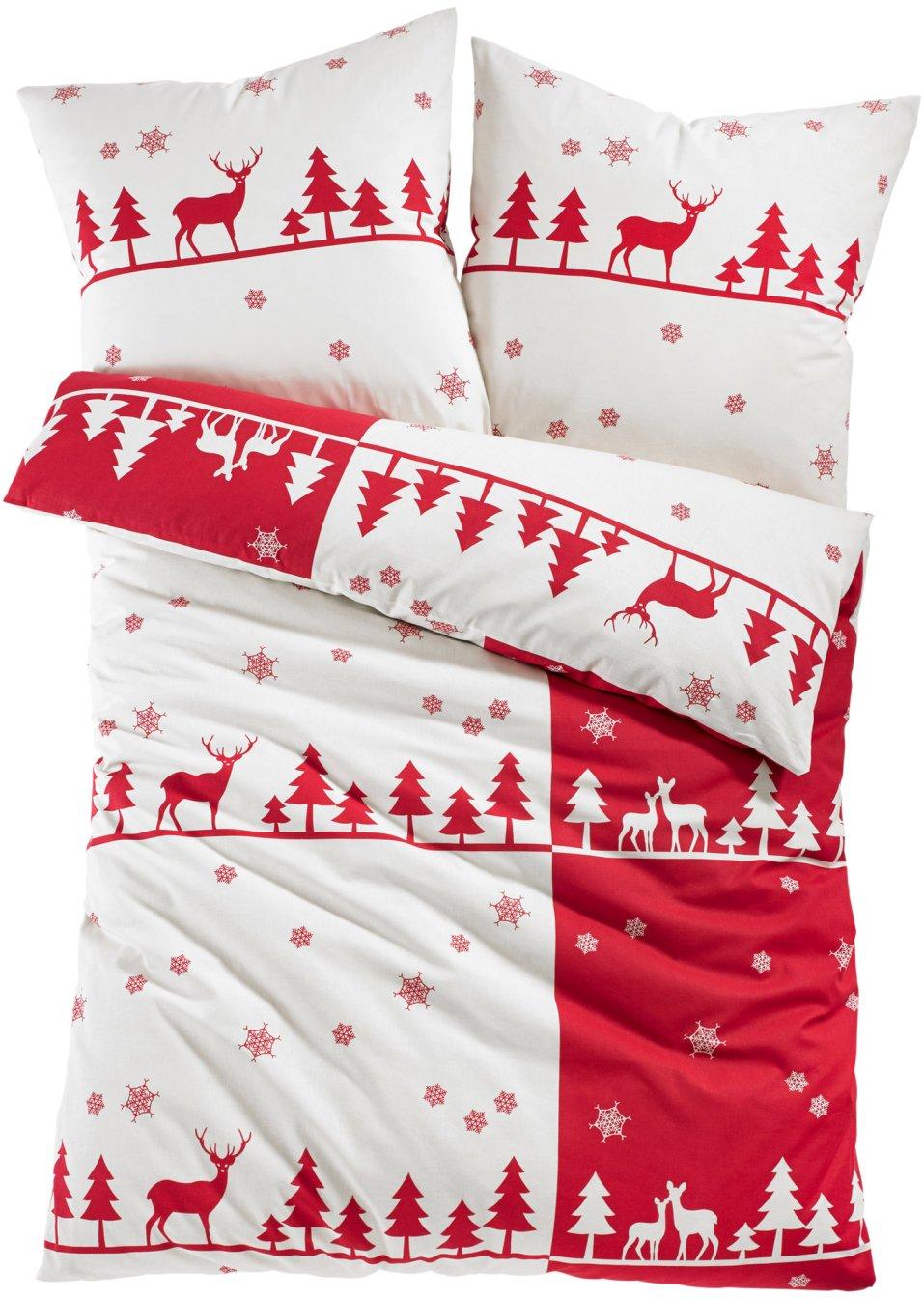 weich und gem tlich bettw sche mit wintermuster rot biber. Black Bedroom Furniture Sets. Home Design Ideas