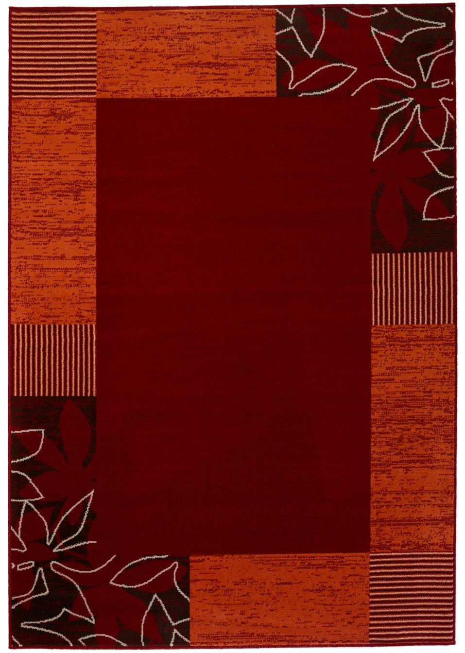harmonie der farben gewebter teppich rieke rot. Black Bedroom Furniture Sets. Home Design Ideas