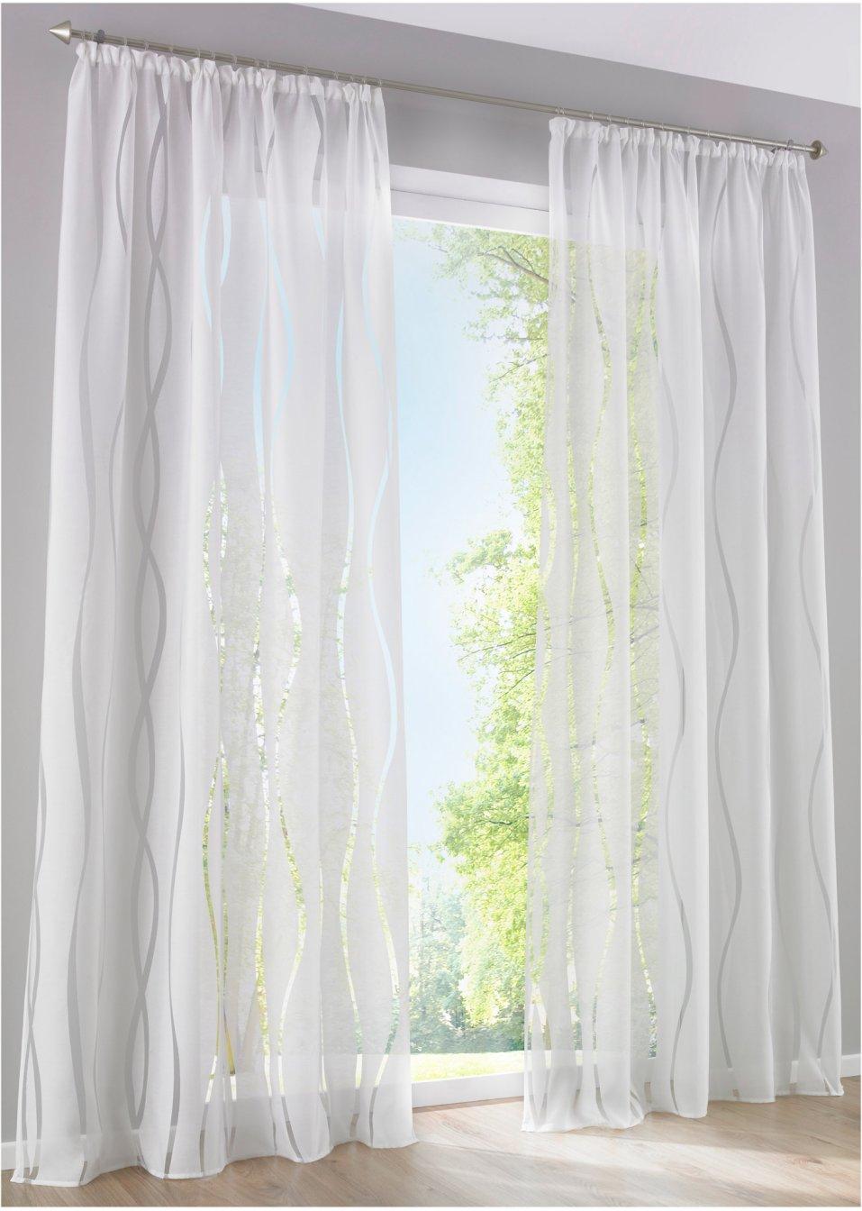 gardine vera 1er pack kr uselband grau wohnen. Black Bedroom Furniture Sets. Home Design Ideas