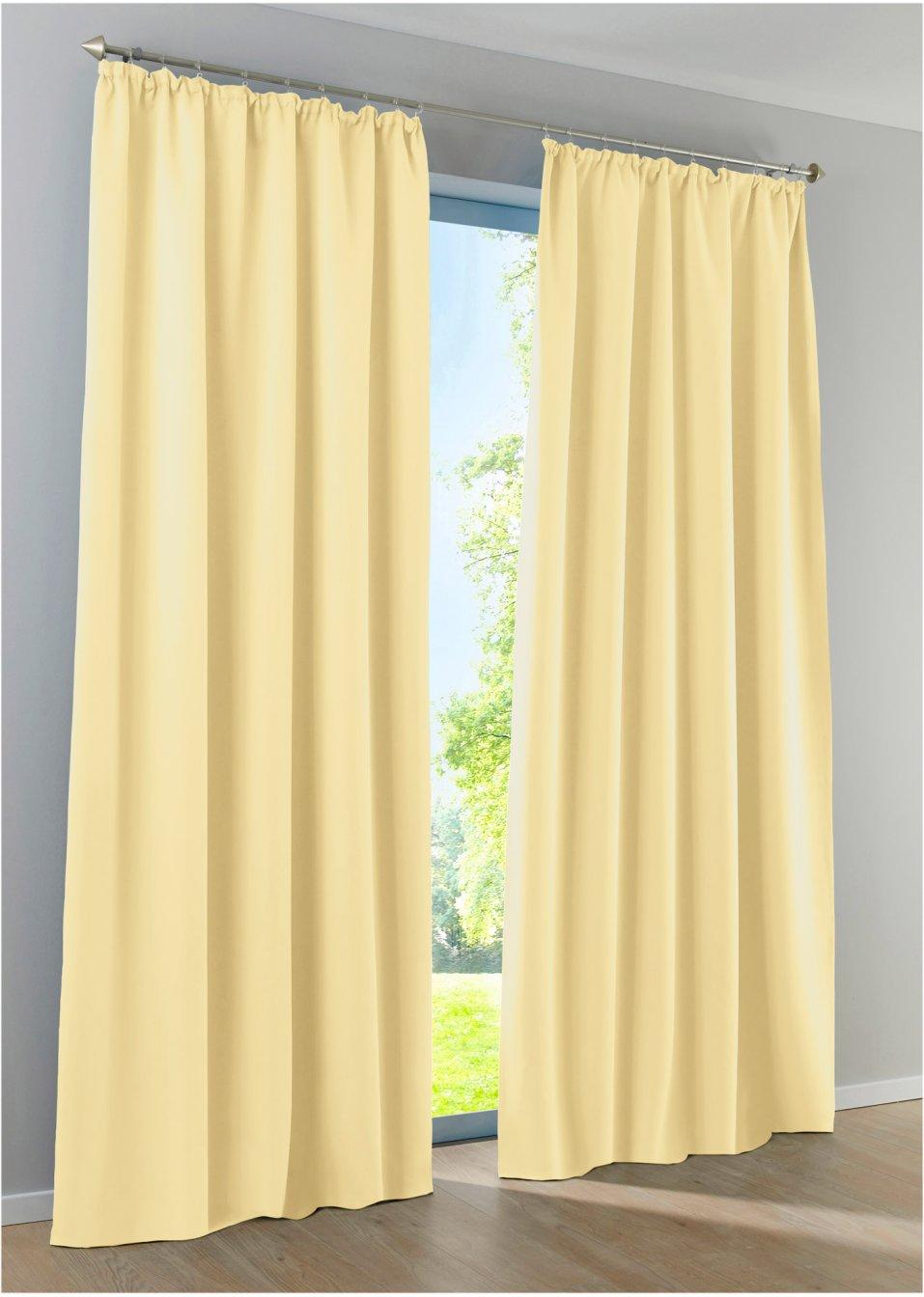 licht und sichtschutz am tag und in der nacht mit dem vorhang verdunkelung vanille. Black Bedroom Furniture Sets. Home Design Ideas