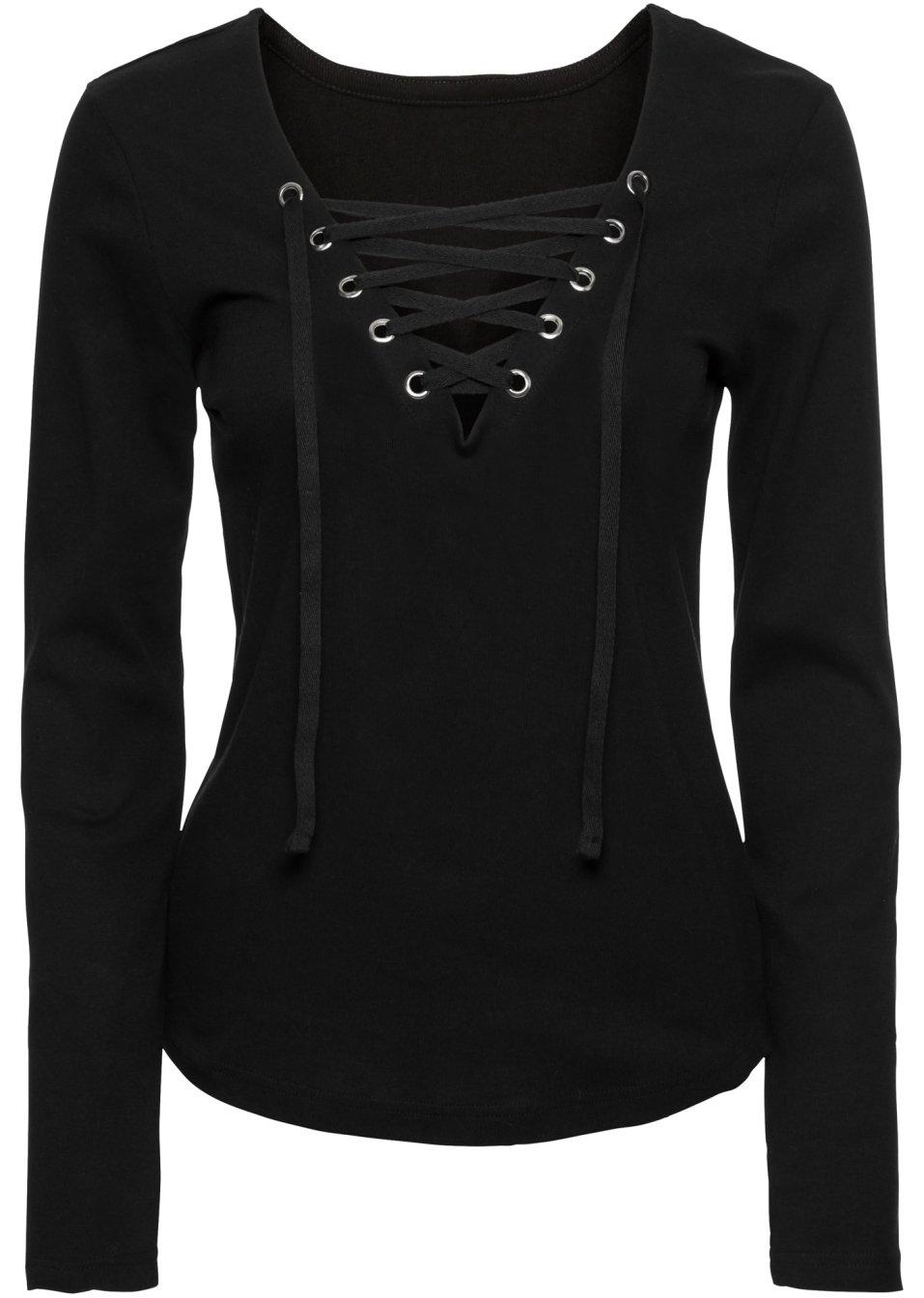 angesagtes shirt mit cooler schn rung schwarz. Black Bedroom Furniture Sets. Home Design Ideas