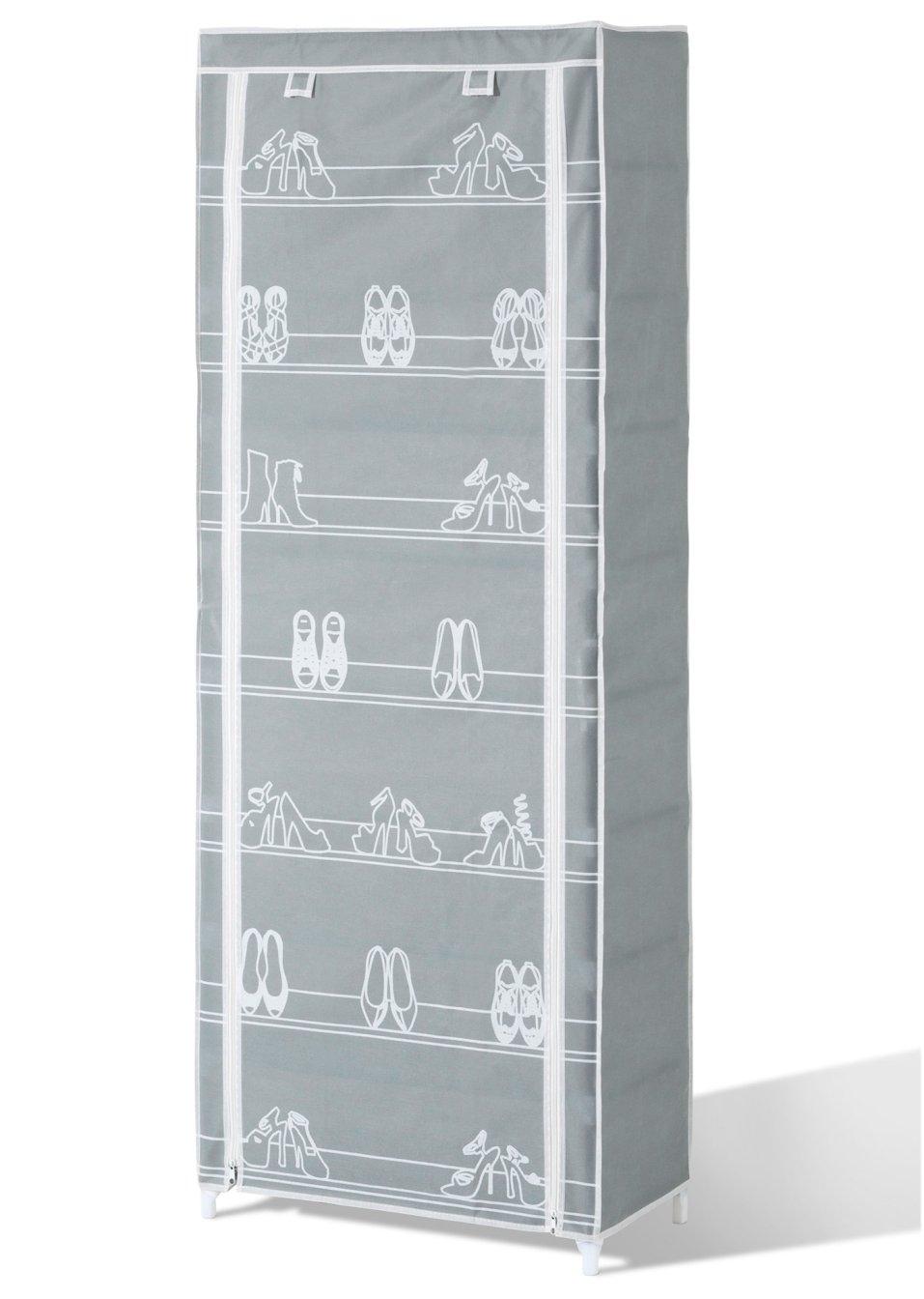 schuhschrank gro karl grau wohnen. Black Bedroom Furniture Sets. Home Design Ideas