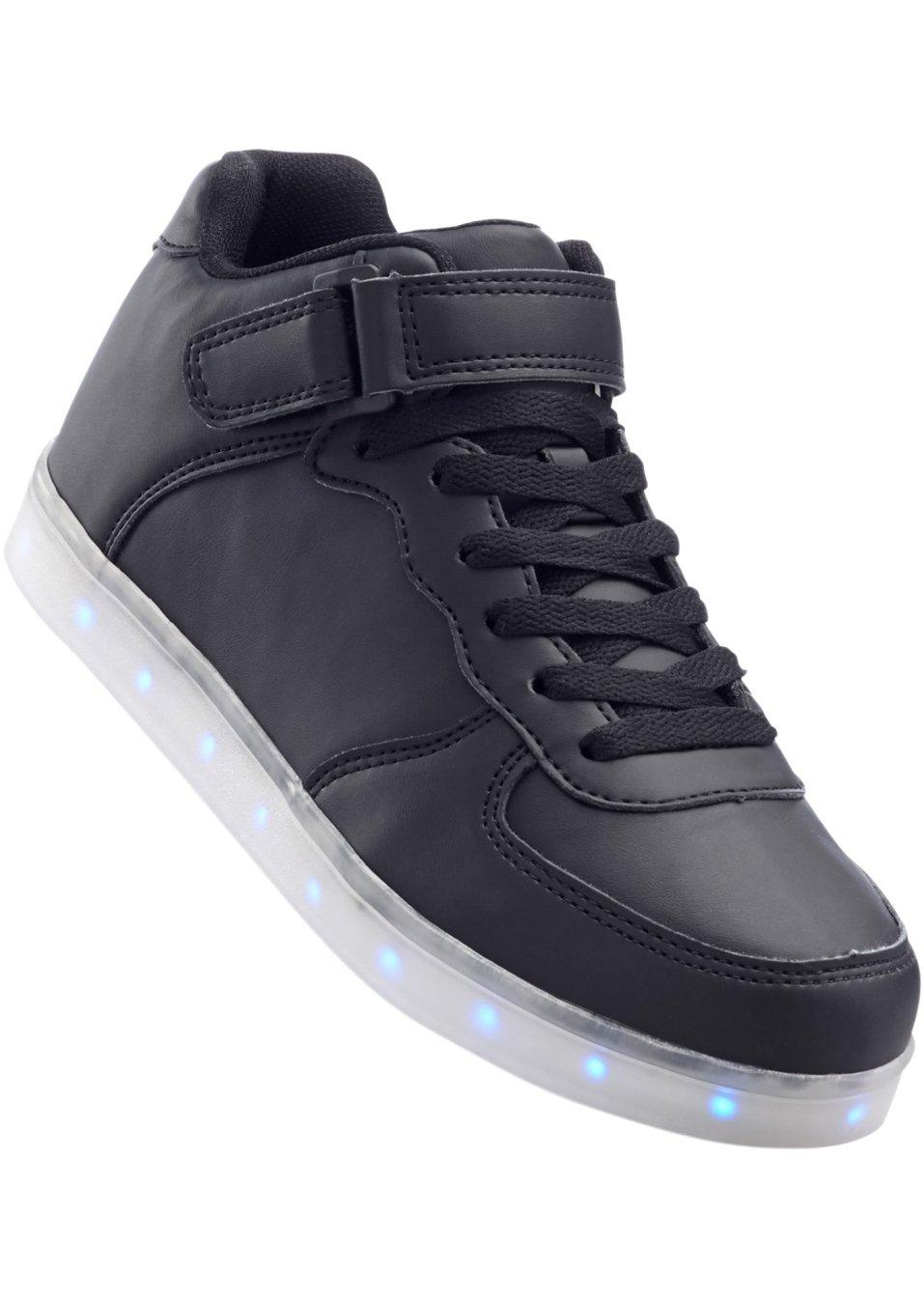 trendiger hingucker der sneaker mit led sohle schwarz. Black Bedroom Furniture Sets. Home Design Ideas