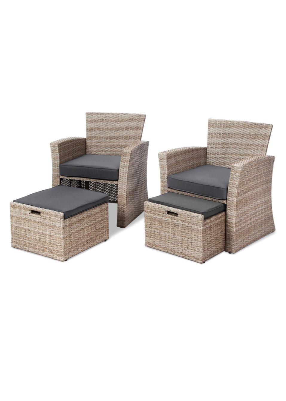 platzsparend gestaltet das gartenm bel set kailua natur. Black Bedroom Furniture Sets. Home Design Ideas