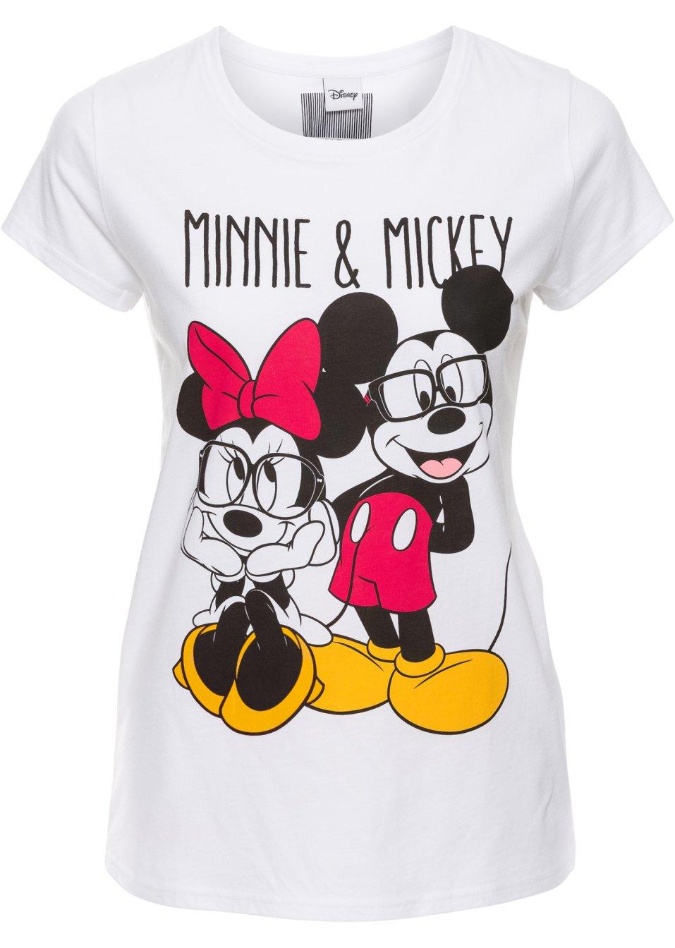 T-Shirt kurzer Arm in rosa (Rundhals) von bonprix Disney mvF6DPTV4C
