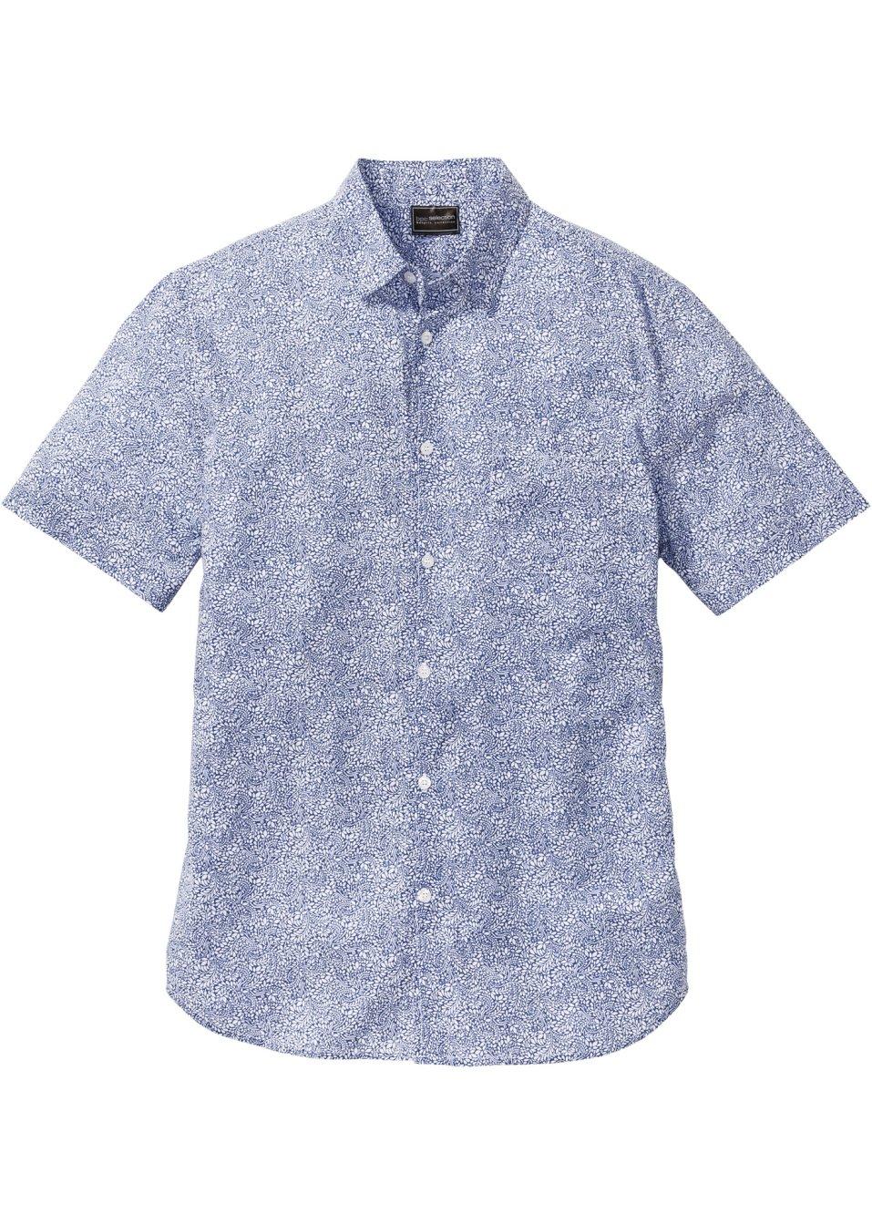 Ansprechendes Kurzarmhemd Mit Allover Muster Und