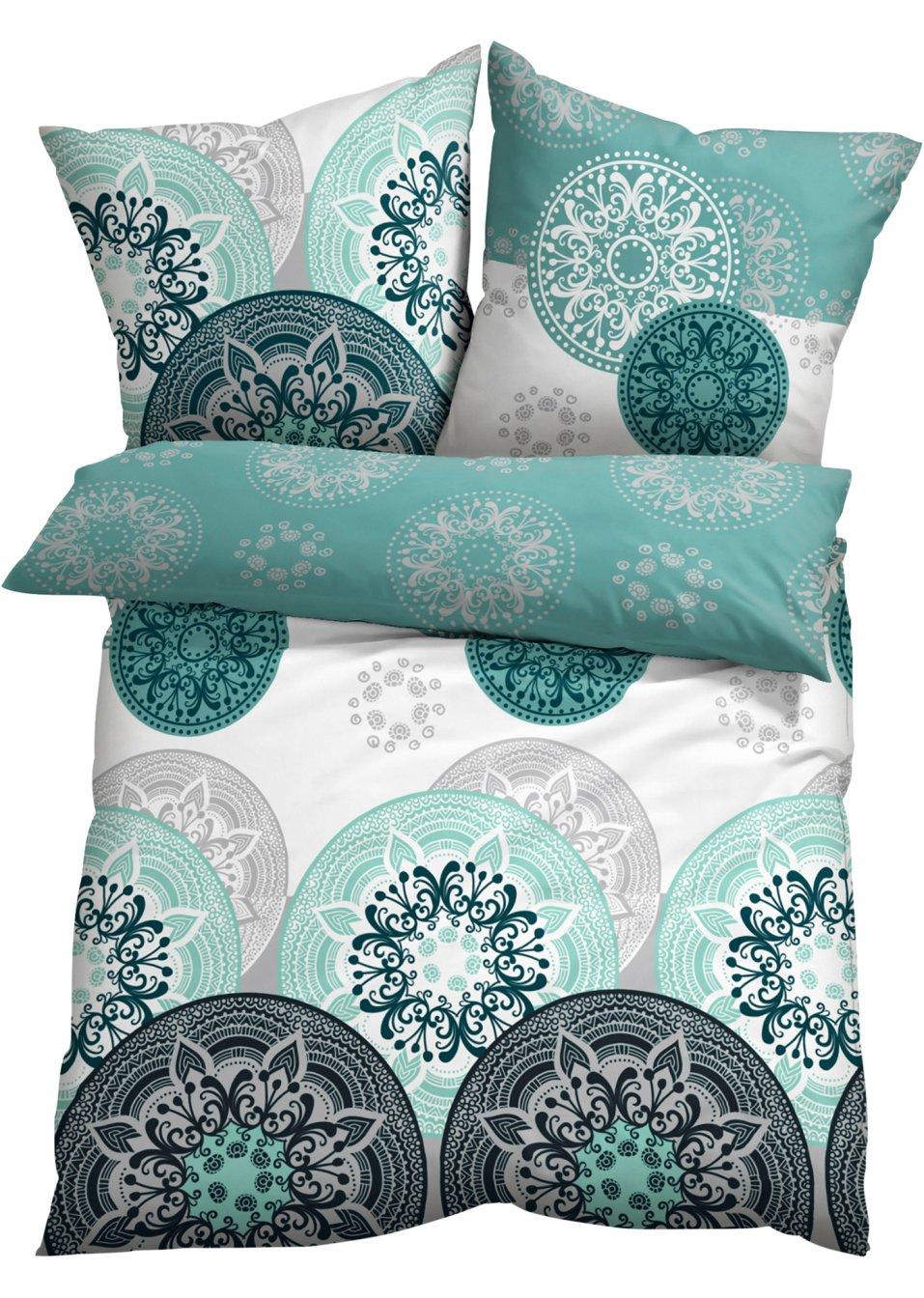 harmonische farben sch nes motiv die bettw sche mia petrol mint microfaser. Black Bedroom Furniture Sets. Home Design Ideas