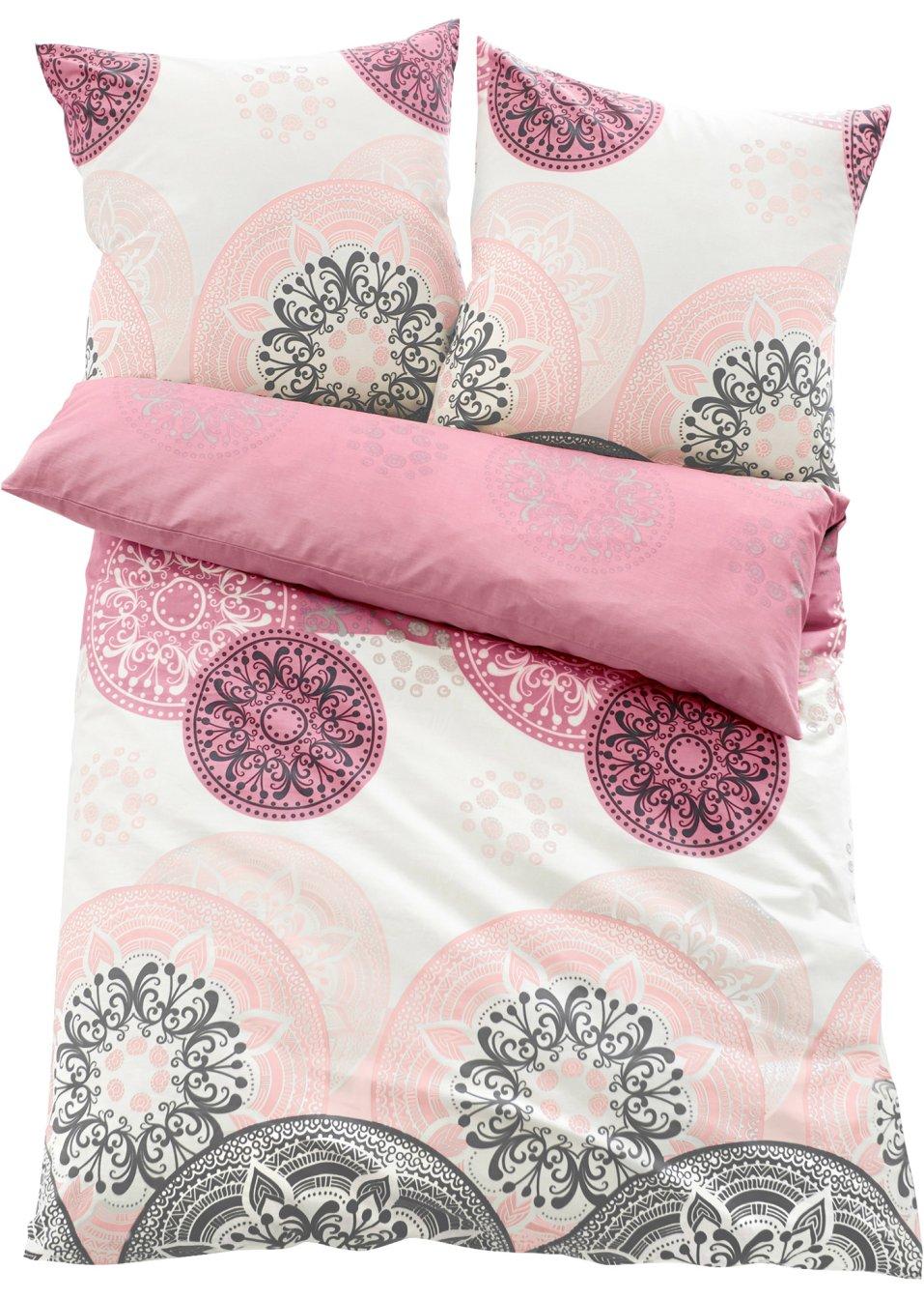 harmonische farben sch nes motiv die bettw sche mia rosa linon. Black Bedroom Furniture Sets. Home Design Ideas