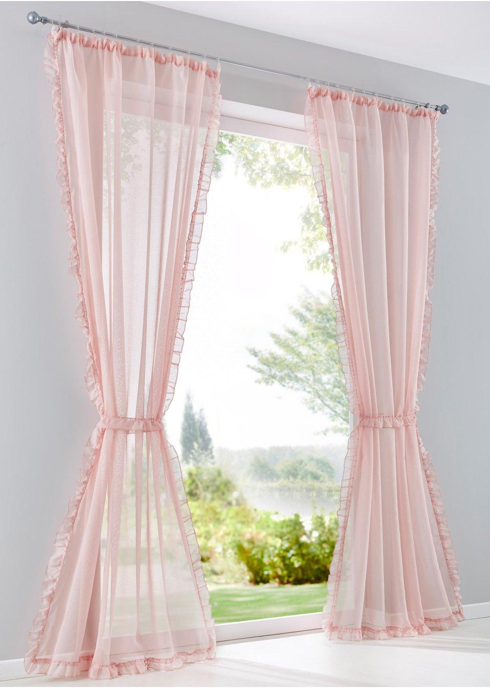 gardine kira 1er pack rosa bpc living online bestellen. Black Bedroom Furniture Sets. Home Design Ideas